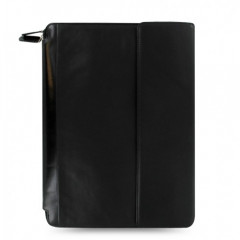 Nappa A4 Zipped Portfolio Black