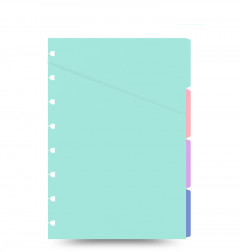 Filofax Notebook pastellfarbenes Register