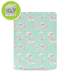 eniTAB360 Small Universal Tablet Case - Patterns Zip Butterfly