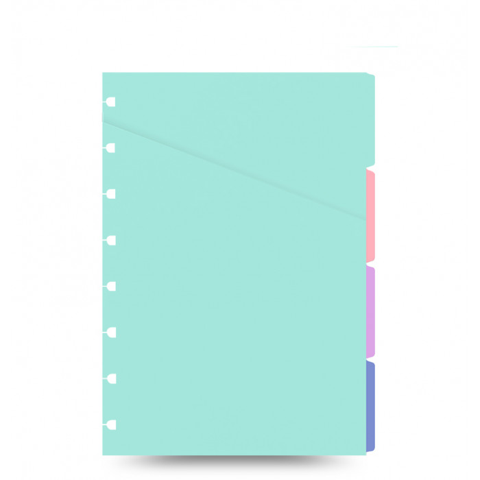 Filofax Notebook pastellfarbenes Register - A5