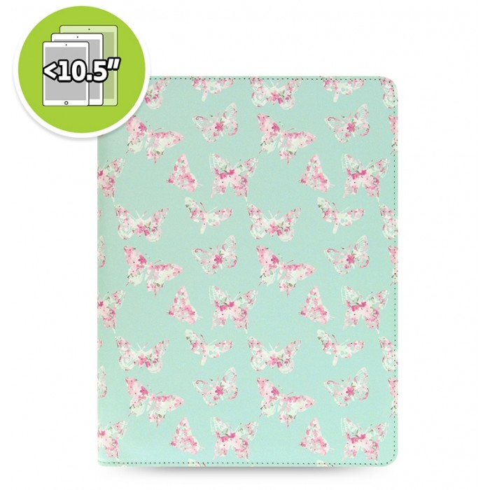 eniTAB360 Large Universal Tablet Case - Patterns Zip Butterfly