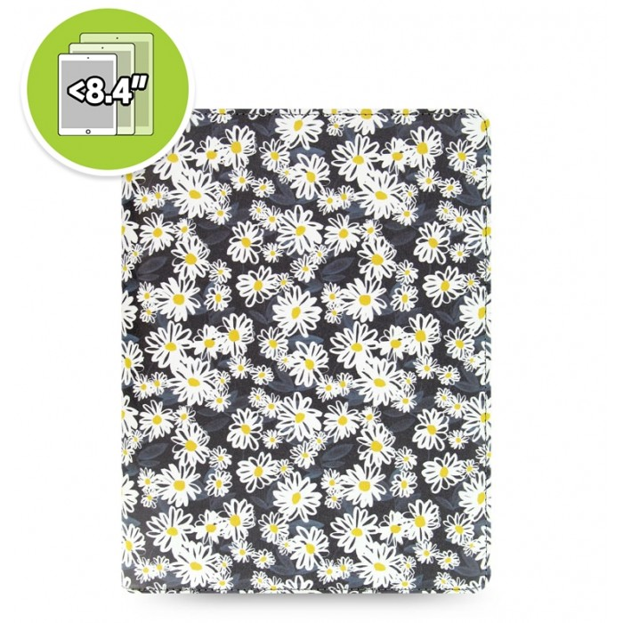 eniTAB360 Small Universal Tablet Case - Patterns Zip Daisies