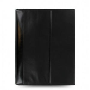Nappa A4 Zipped Folio mit Ringsmechanik Black
