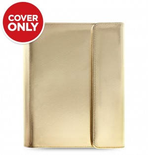 Saffiano Metallic Wrap Large Tablet Cover Gold