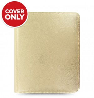 Saffiano Metallic Zip Large Tablet Cover Gold