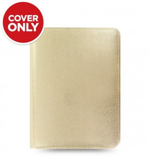 Saffiano Metallic Zip Small Tablet Cover Gold