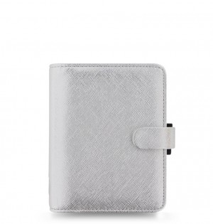 Saffiano Metallic Pocket Organiser